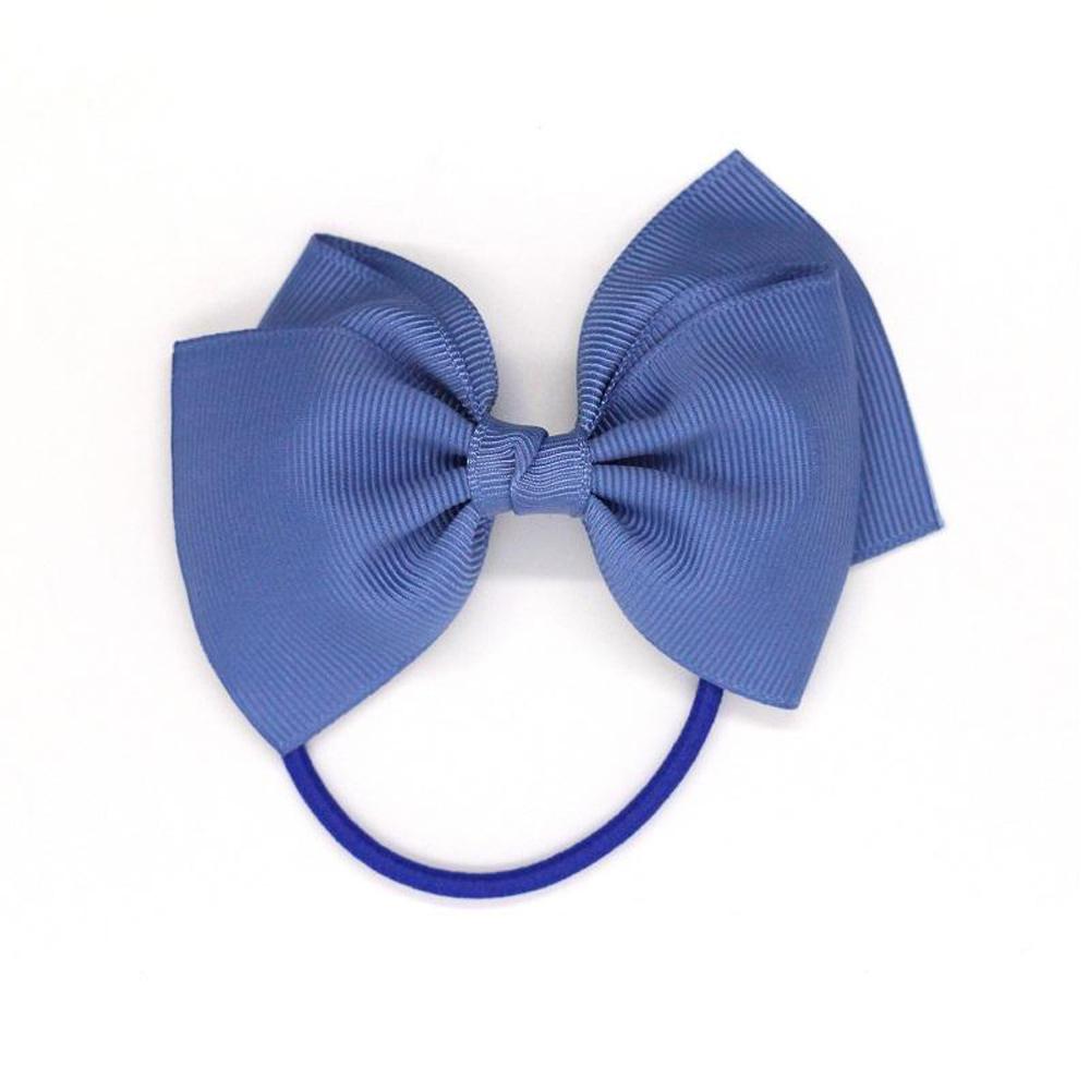 Ribbies 中蝴蝶結髮束-煙燻藍