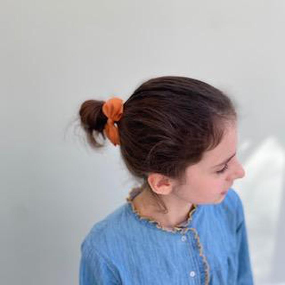 Ribbies 中蝴蝶結髮束-鐵鏽紅