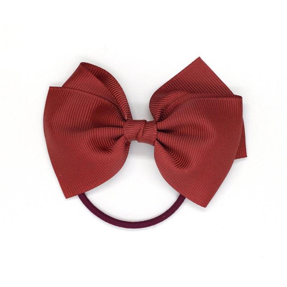 Ribbies|中蝴蝶結髮束-鐵鏽紅