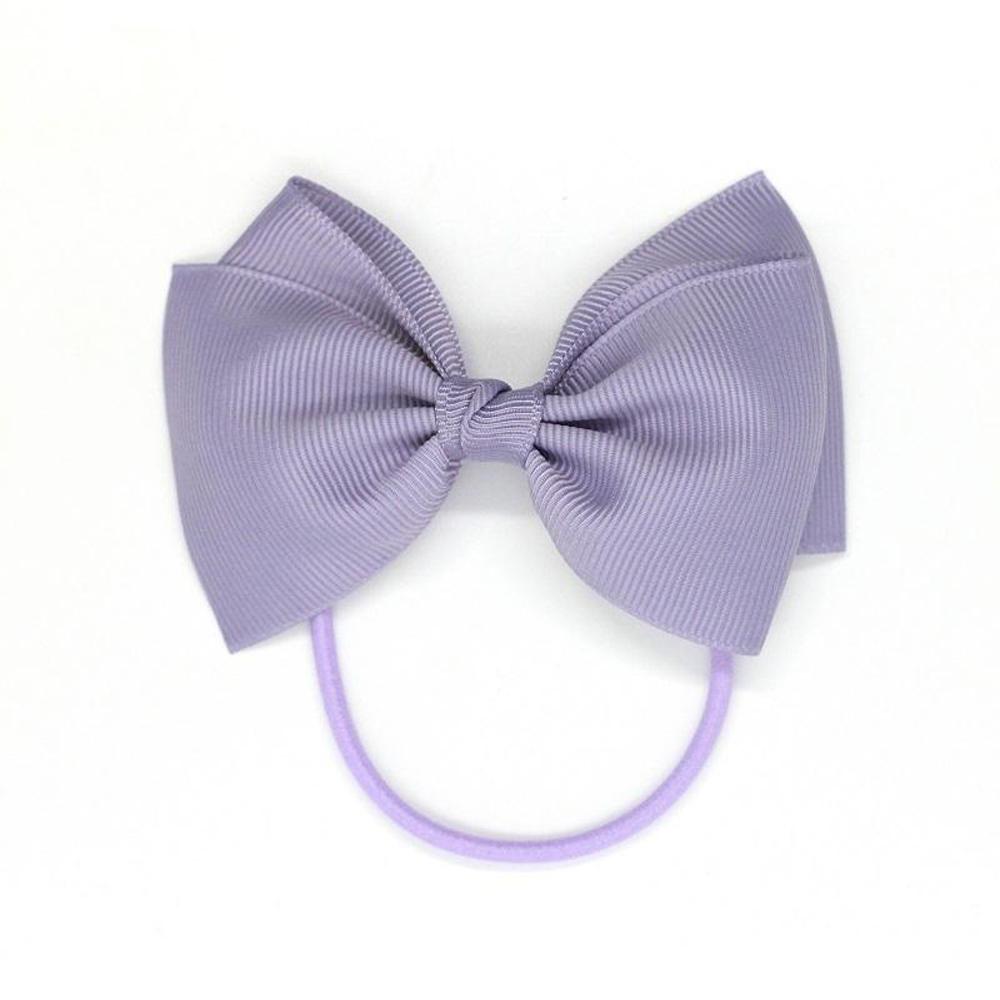 Ribbies|中蝴蝶結髮束-粉灰紫