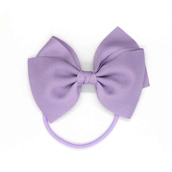 (複製)Ribbies|中蝴蝶結髮束-粉灰紫