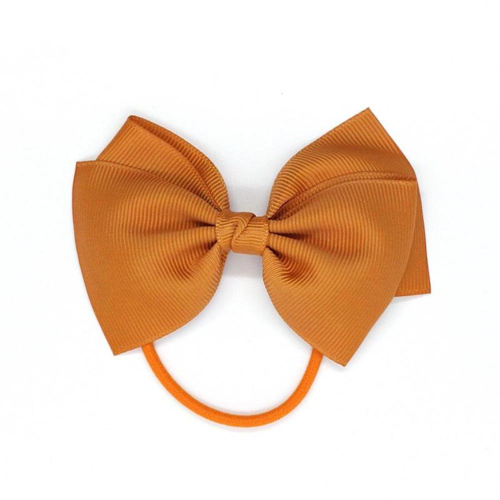 Ribbies|中蝴蝶結髮束-薑黃