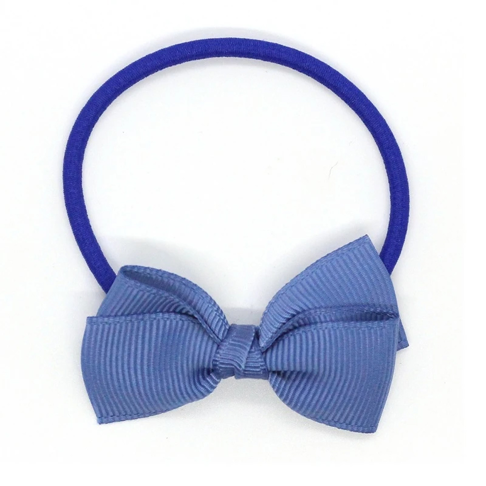 Ribbies|小蝴蝶結髮束-煙燻藍