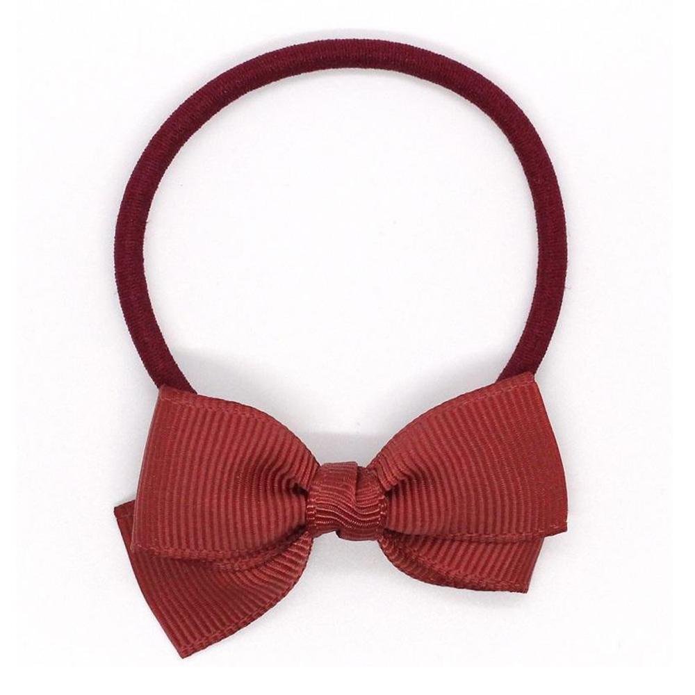 Ribbies|小蝴蝶結髮束-鐵鏽紅