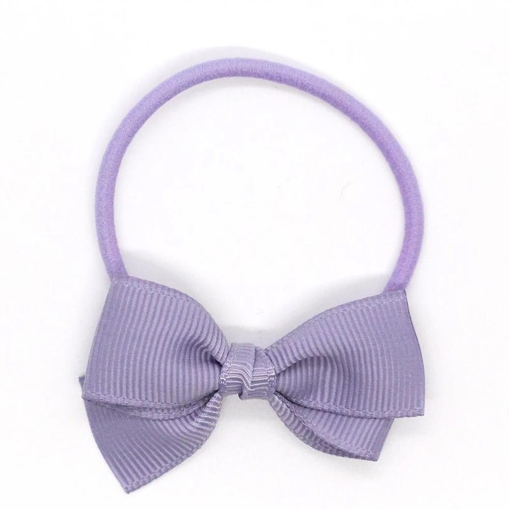 Ribbies 小蝴蝶結髮束-粉灰紫