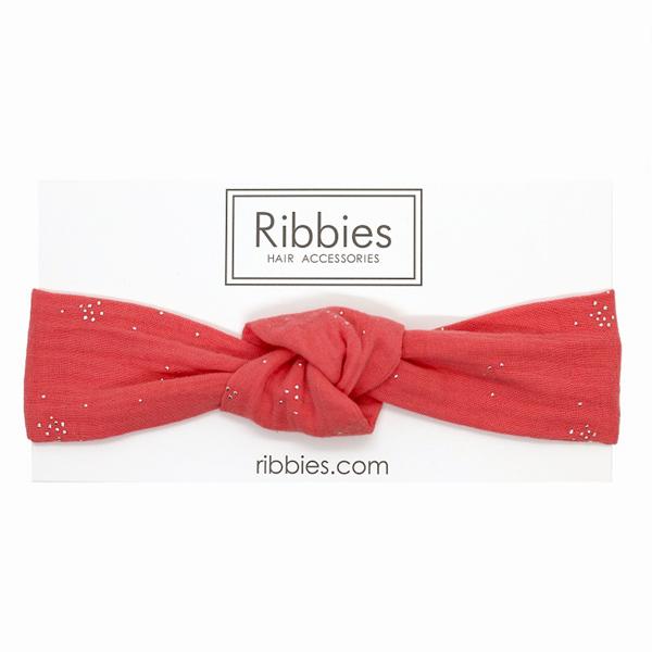 (複製)Ribbies|成人寬版扭結髮帶-薄荷綠金點點