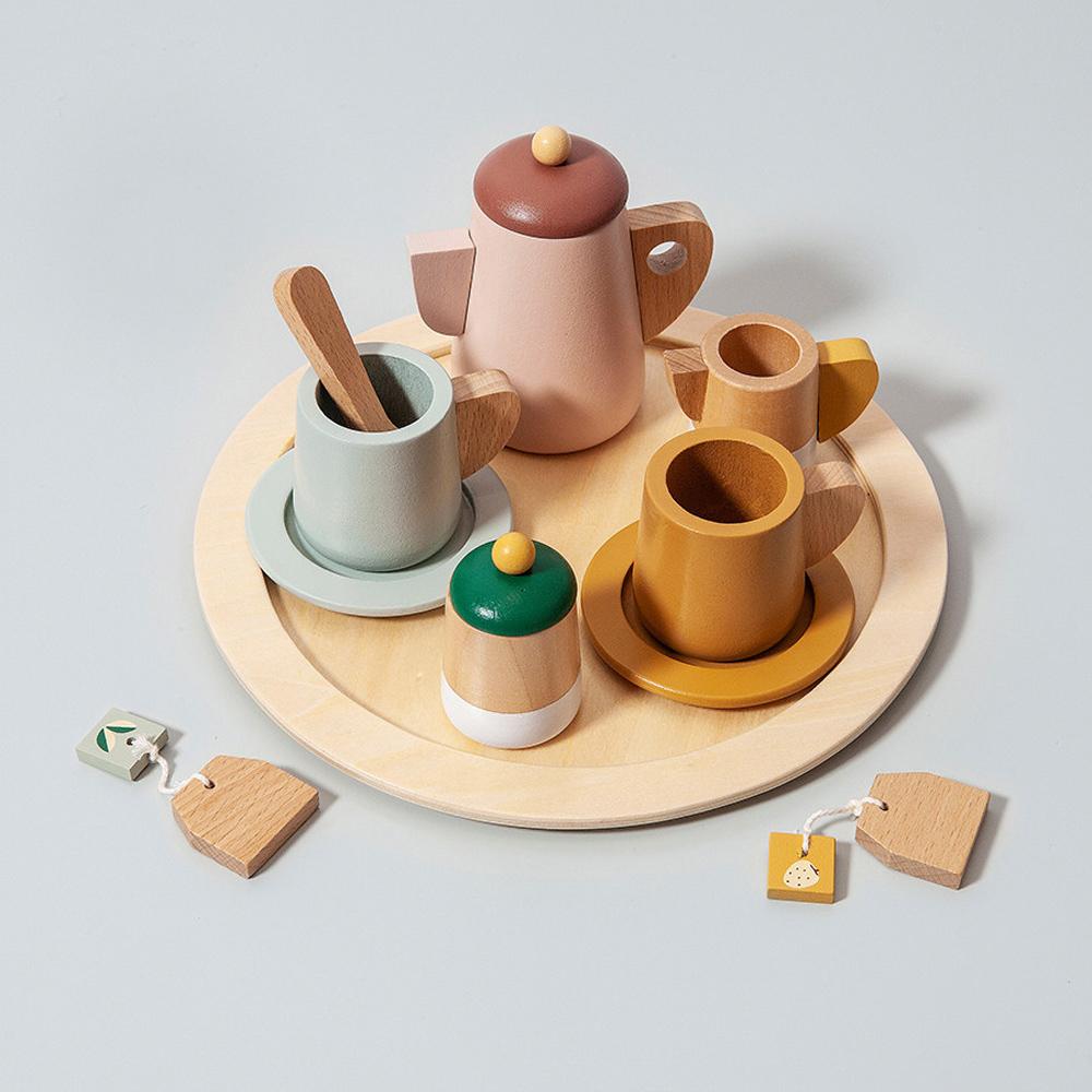 荷蘭Petit Monkey 經典木玩-典雅午茶組