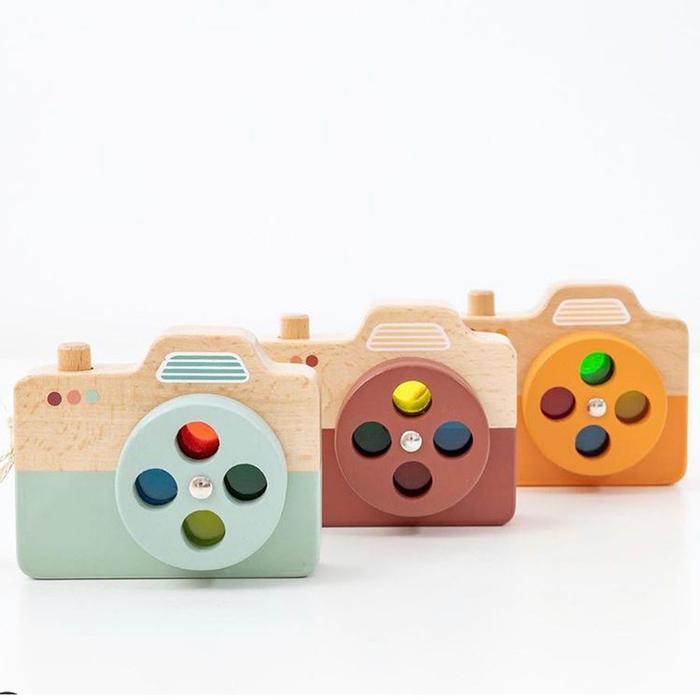 荷蘭Petit Monkey 經典木玩-亮橘相機