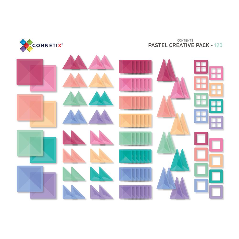 澳洲Connetix|粉彩磁力積木-粉彩進階創意組(120pc)