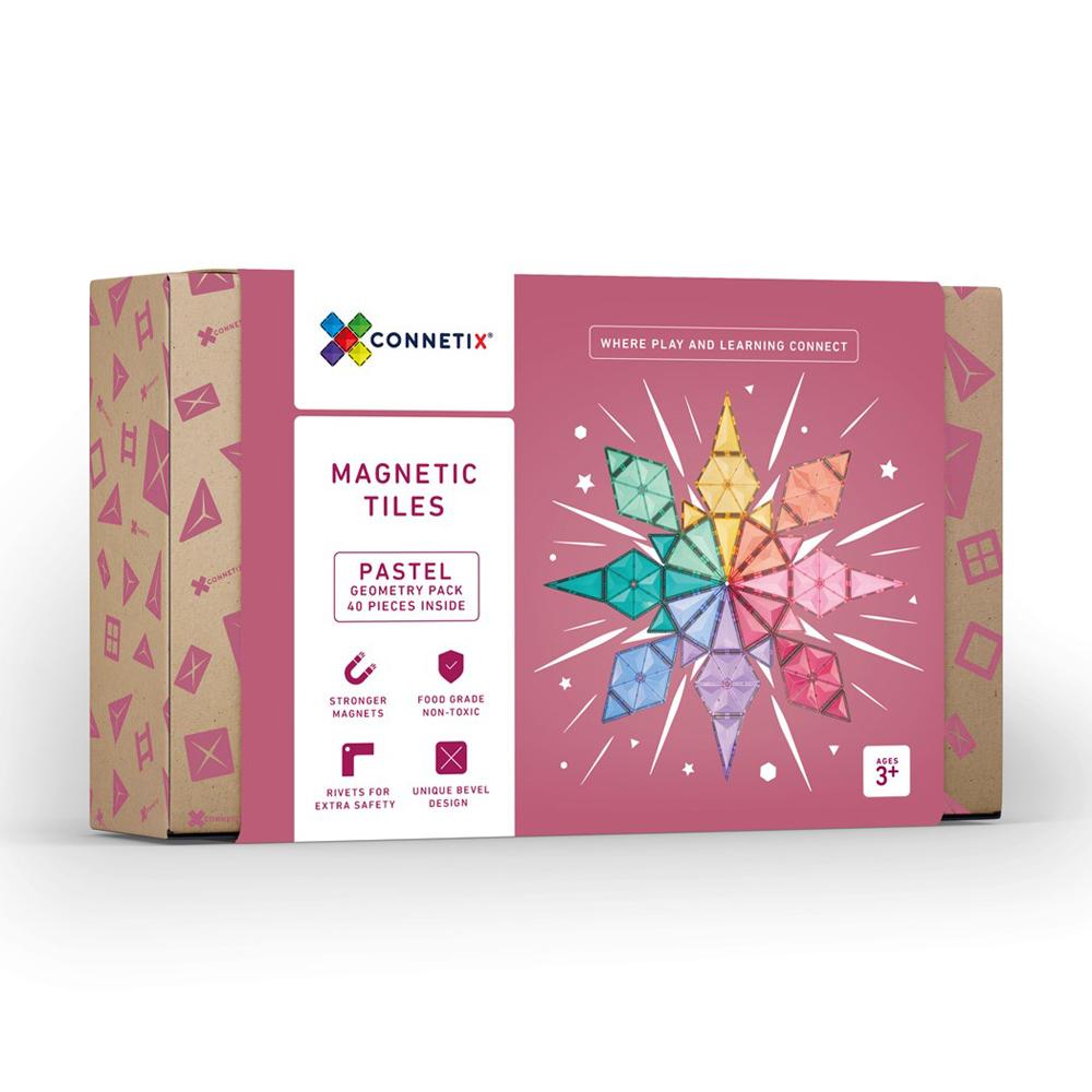 澳洲Connetix|粉彩磁力積木-幾何圖形組(40pc)