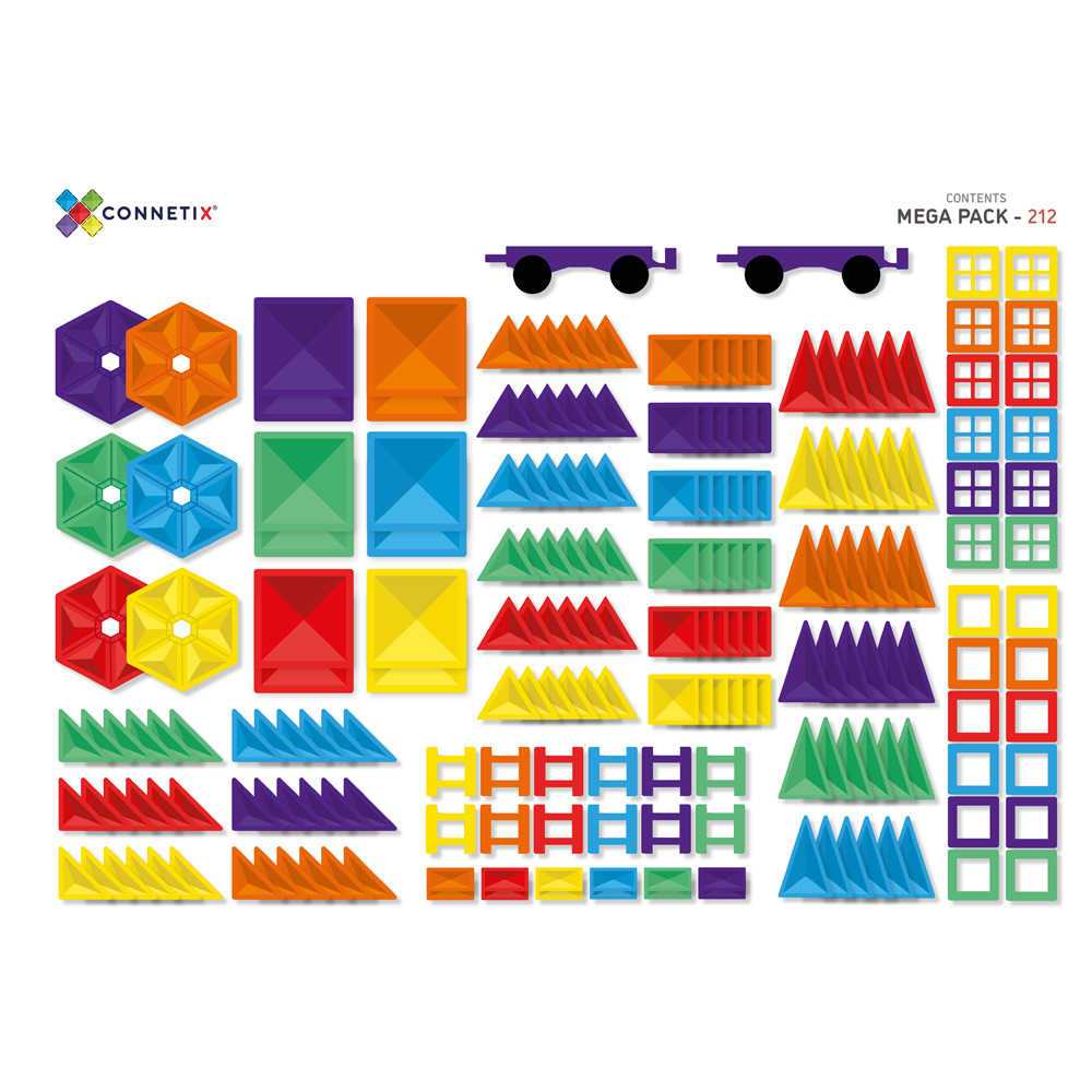 澳洲Connetix|彩虹磁力積木-超級豪華組(212pc)