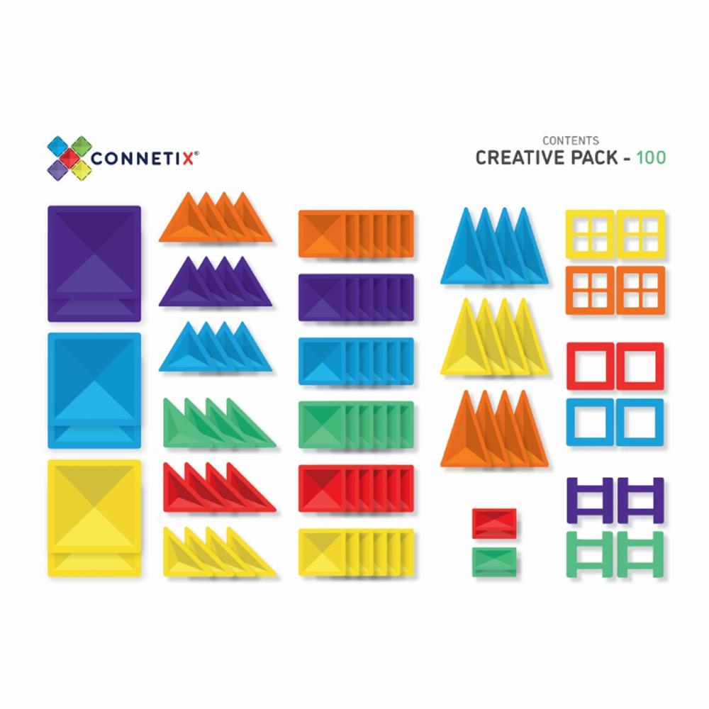 澳洲Connetix|彩虹磁力積木-進階創意組(100pc)