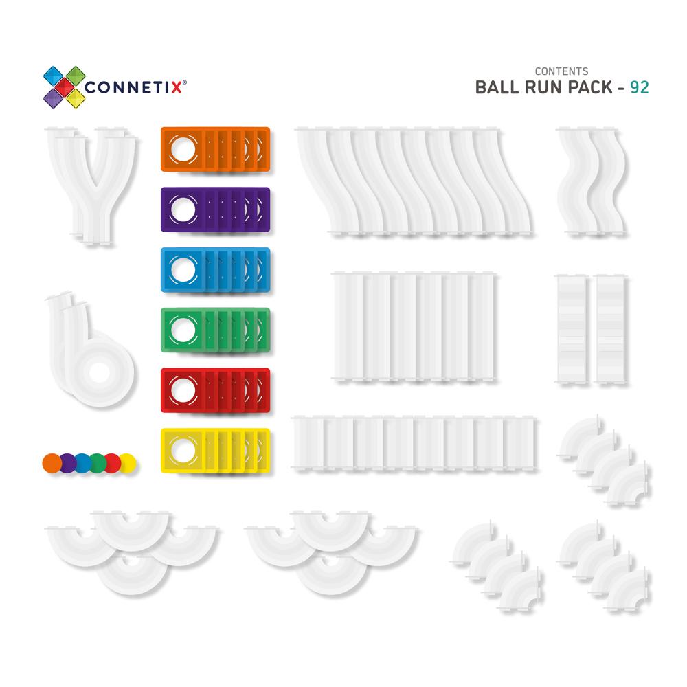 澳洲Connetix 彩虹磁力積木-滾球軌道組(92pc)