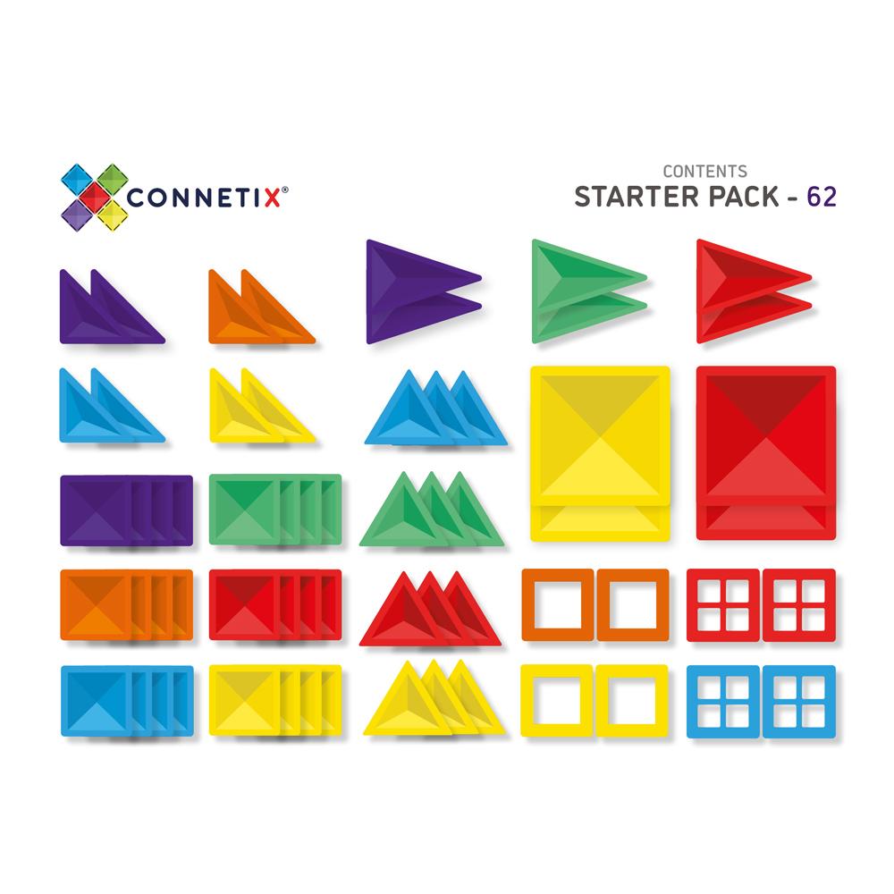 澳洲Connetix|彩虹磁力積木-初階基礎組(62pc)