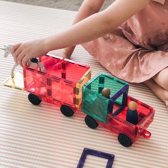 澳洲Connetix彩虹磁力積木|磁力車組(24pc)