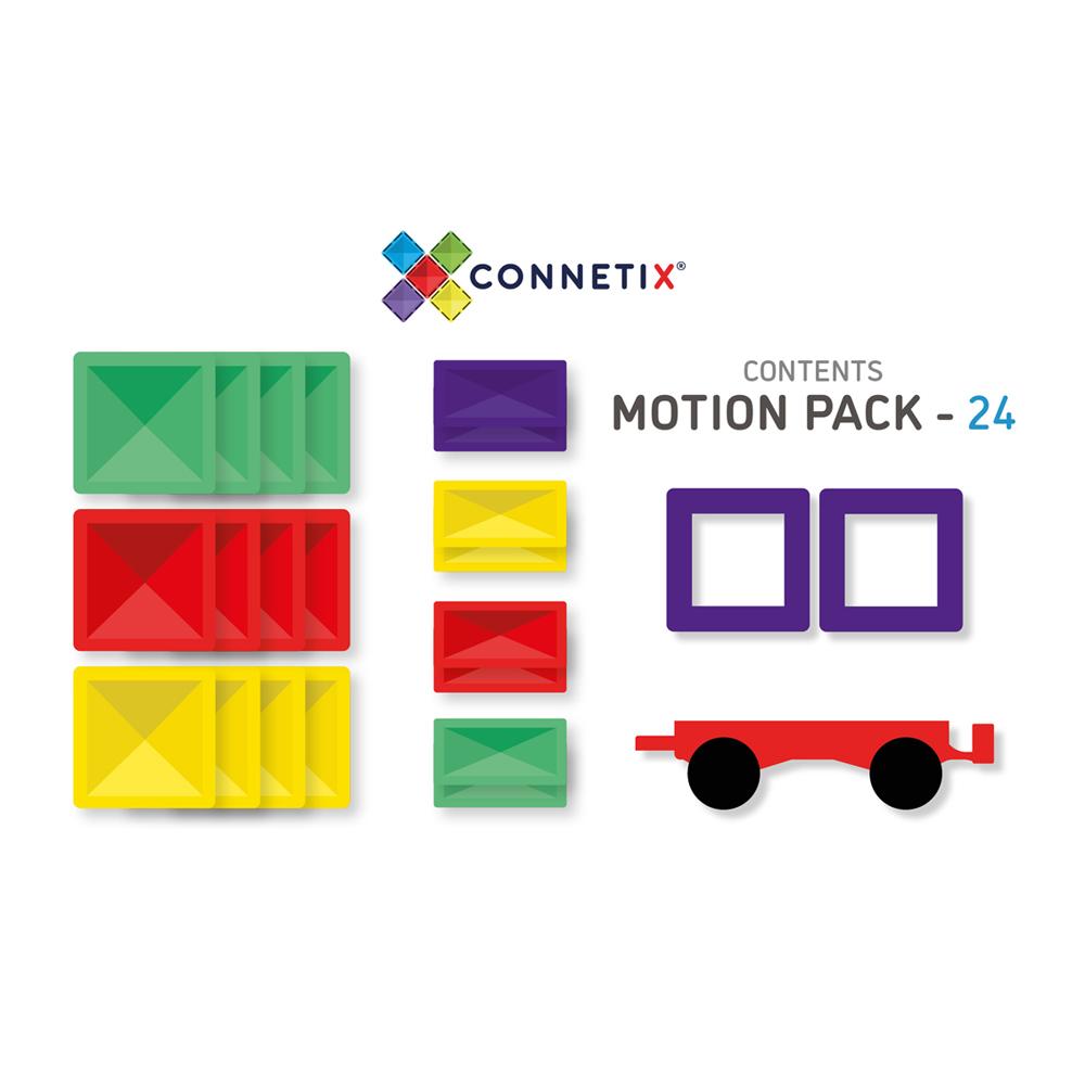 澳洲Connetix|彩虹磁力積木-磁力車組(24pc)