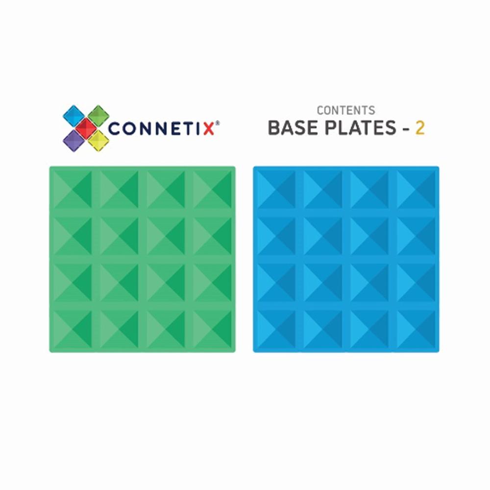 澳洲Connetix|彩虹磁力積木-底板2入組(2pc)