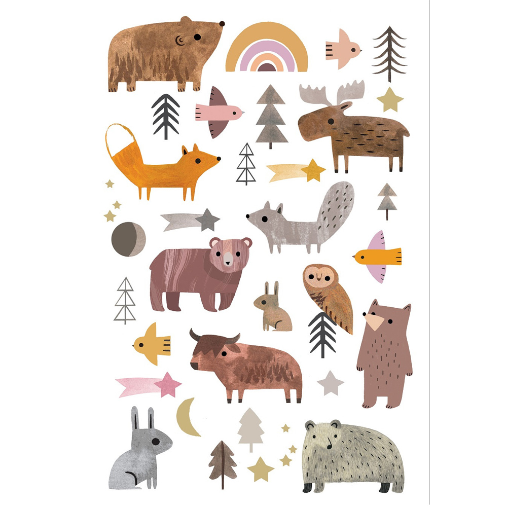 Petit Monkey|趣味森林動物紋身貼紙