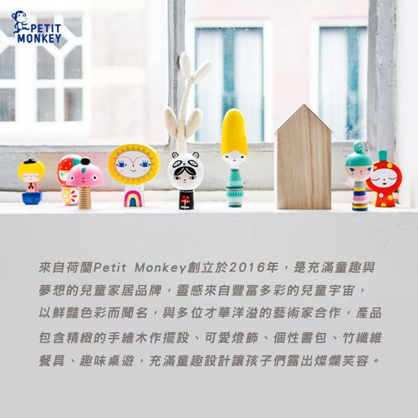 Petit Monkey 環保粉藍酷狼小童背包-L號