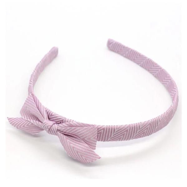 Ribbies|雪弗蘭蝴蝶結髮圈-粉紫