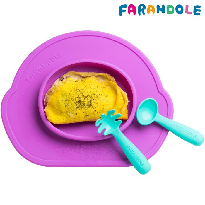 FARANDOLE 嬰幼兒聰明學習餐具組(藍綠色)
