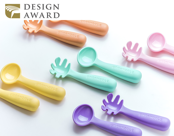 FARANDOLE|嬰幼兒聰明學習餐具組(藍綠色)