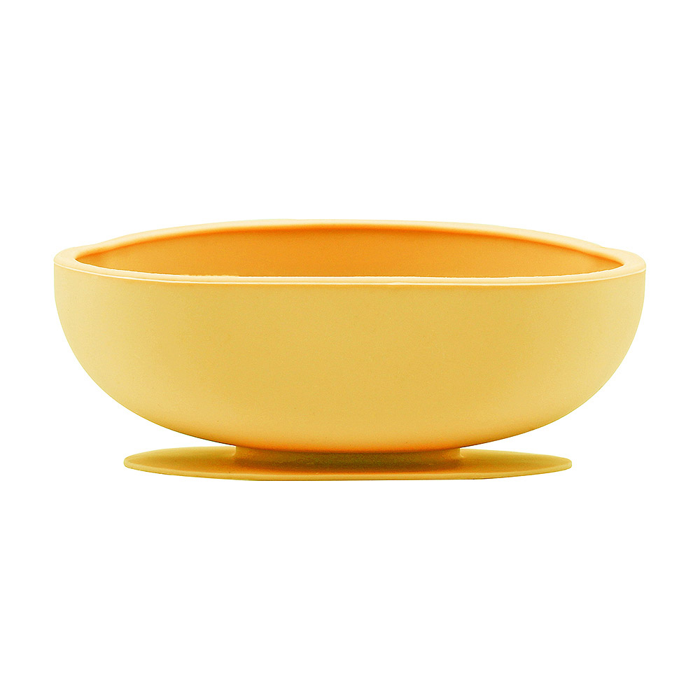 FARANDOLE|防滑矽膠吸盤餐碗-黃色