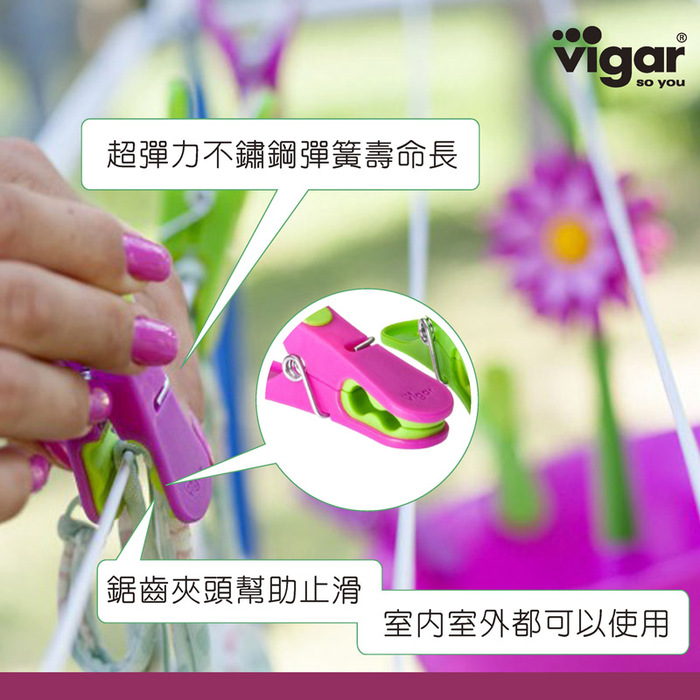 (複製)Vigar│花花系列 粉紅花花擦手巾組 (附吸盤式掛勾)