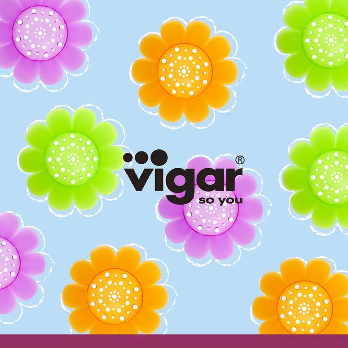 Vigar│花花系列 水槽濾網蓋 (顏色隨機出貨)