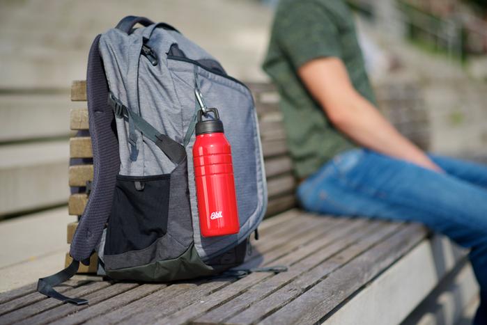 Esbit│鋼硬系列不鏽鋼水瓶 紅色 1000ml