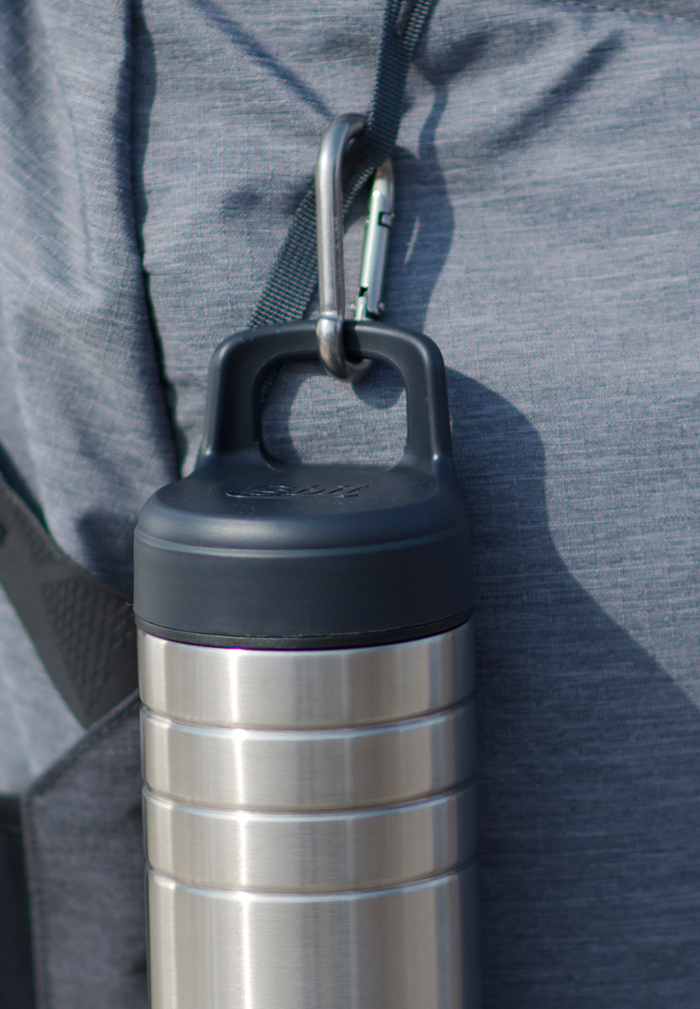 Esbit│鋼硬系列 廣口不鏽鋼真空瓶 700ml 銀色