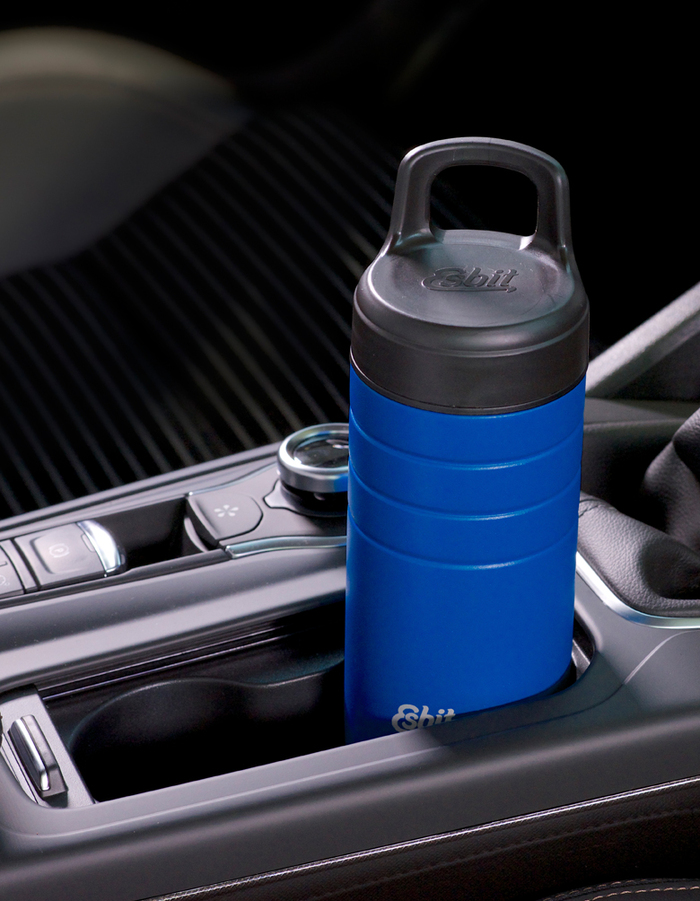 Esbit│鋼硬系列 廣口真空瓶 450ml 北極藍