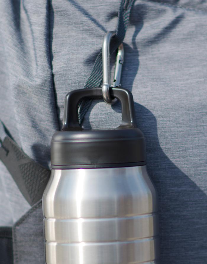 Esbit│鋼硬系列 廣口不鏽鋼真空瓶 1000ml 銀