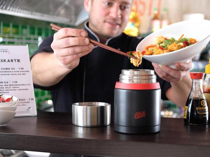 Esbit│不鏽鋼 真空食物保鮮罐 750ml 黑