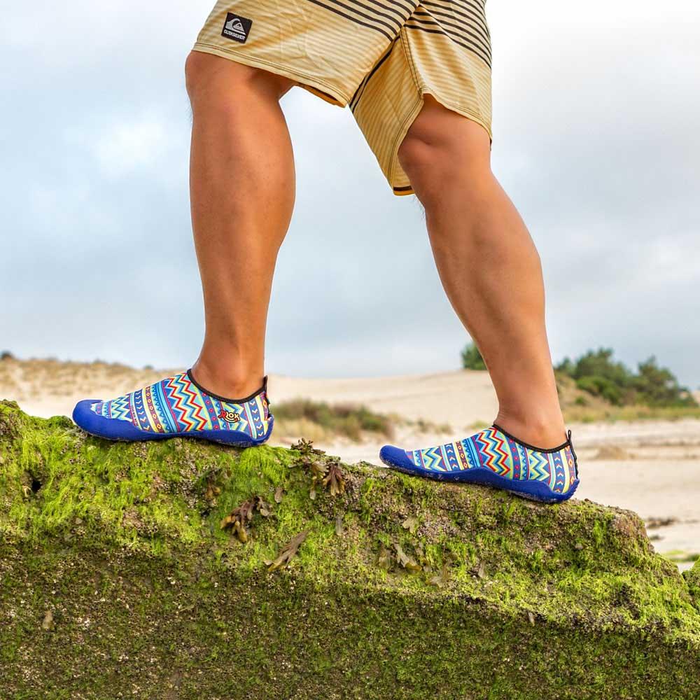 RLOK │SKINSHOES 3.0 厚底赤足鞋 民族藍