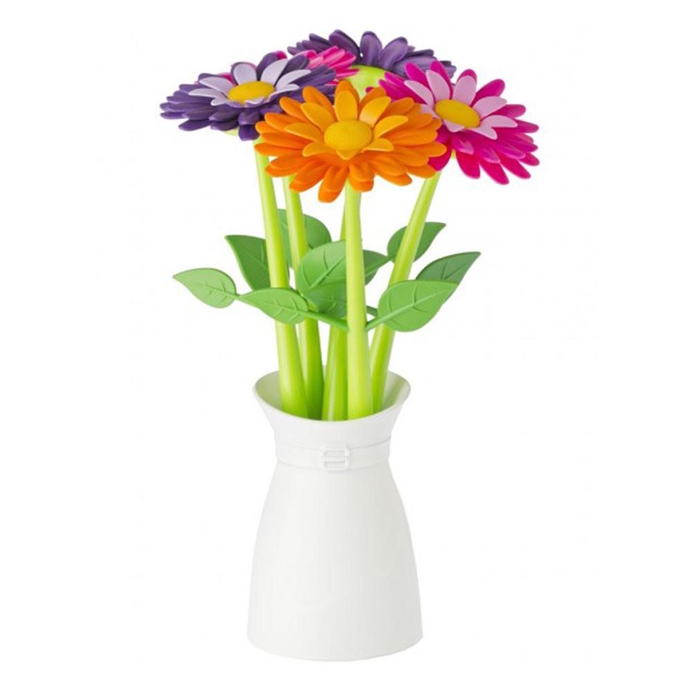 Vigar│花花系列 多彩花花筆組5入組 含花盆