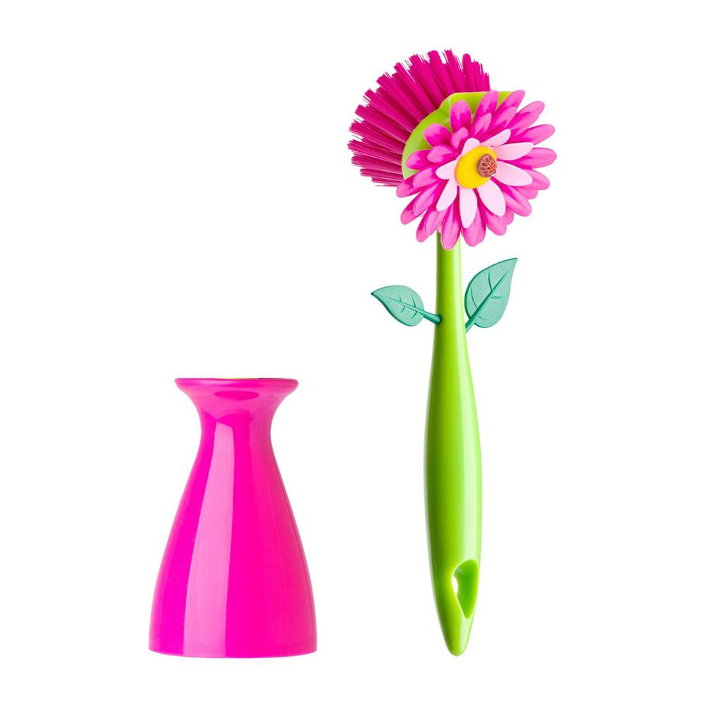 Vigar│花花系列 花花洗碗刷 (含收納花瓶)