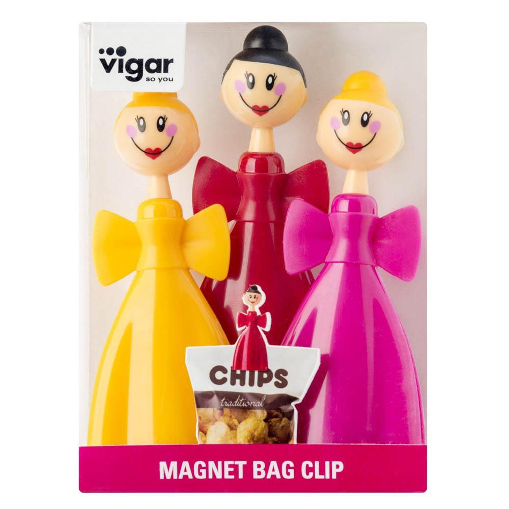 Vigar│娃娃系列 精靈 袋口夾3入 附磁鐵