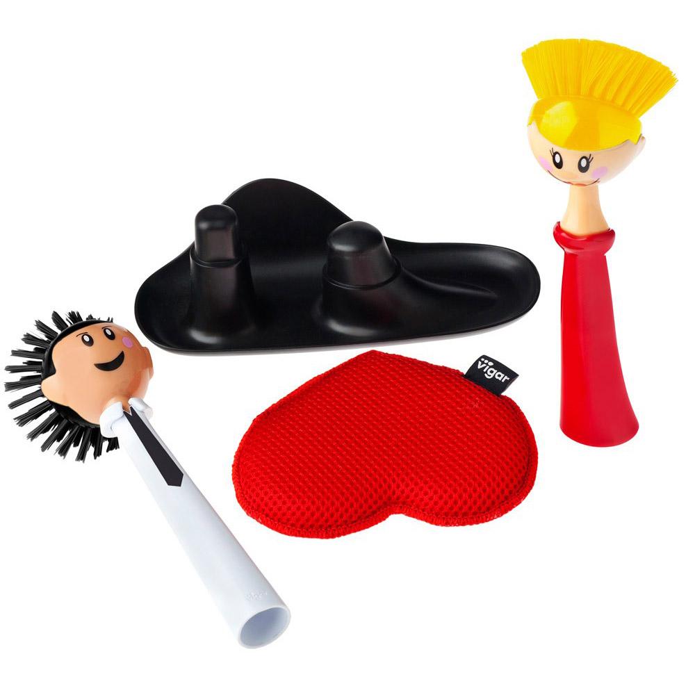 Vigar│娃娃系列 情侶娃娃碗槽清潔組
