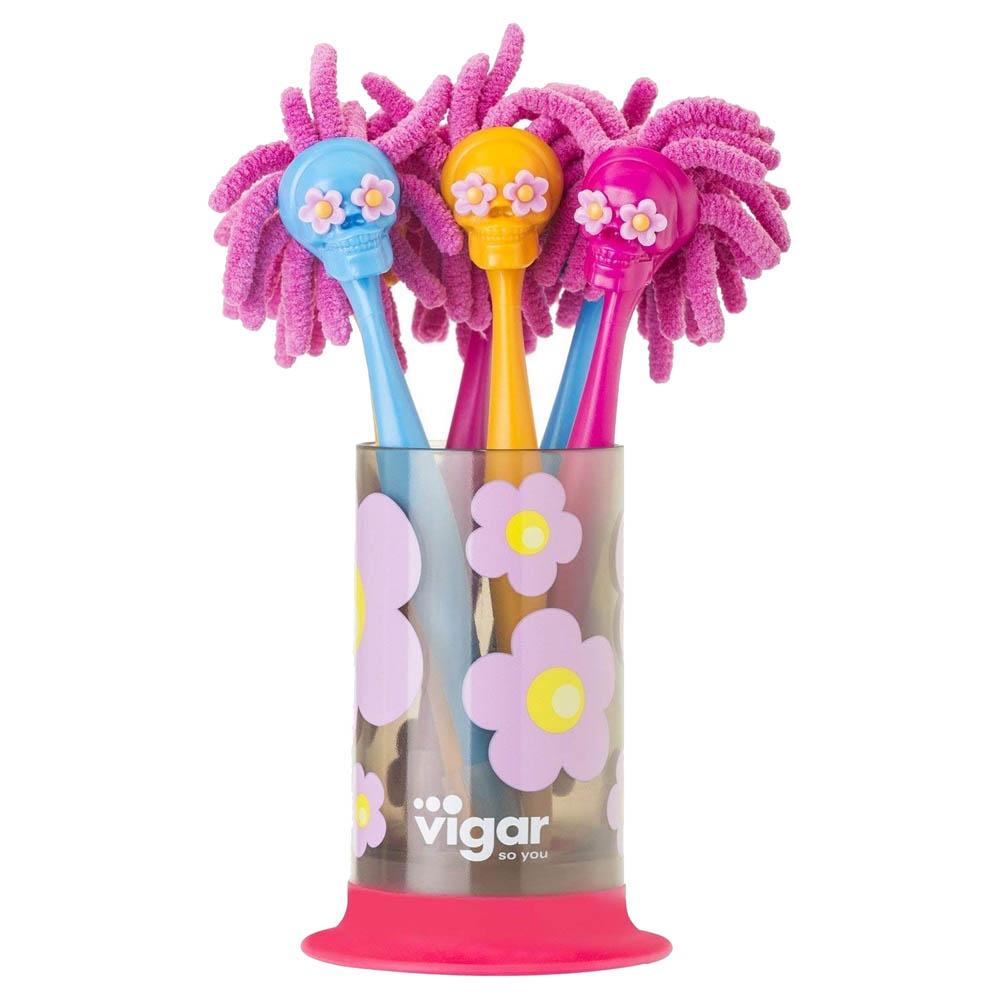Vigar│嬉皮傑克 骷髏頭娃娃筆 6入組 含筆筒