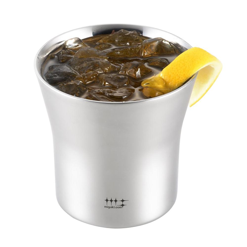 Migakiya│日本 手工研磨 雙層酒杯 2入組