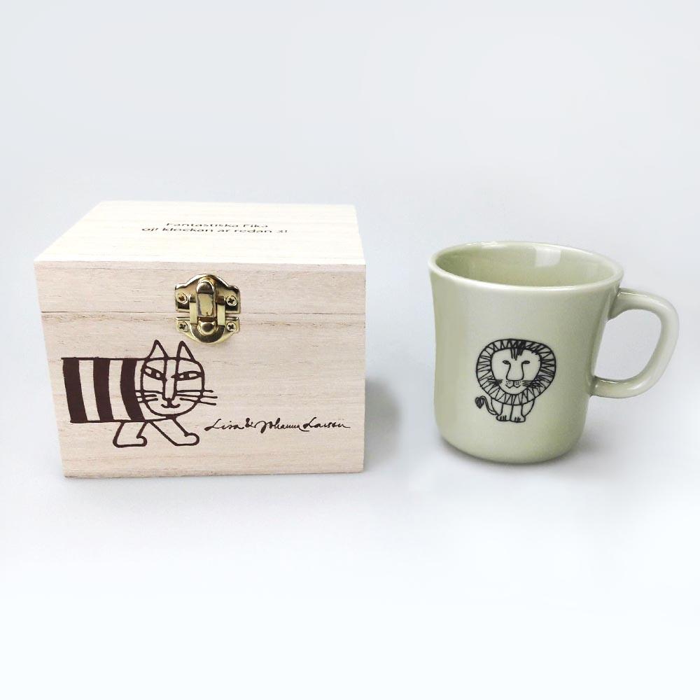 Lisa Larson│日本進口 陶瓷馬克杯 獅子