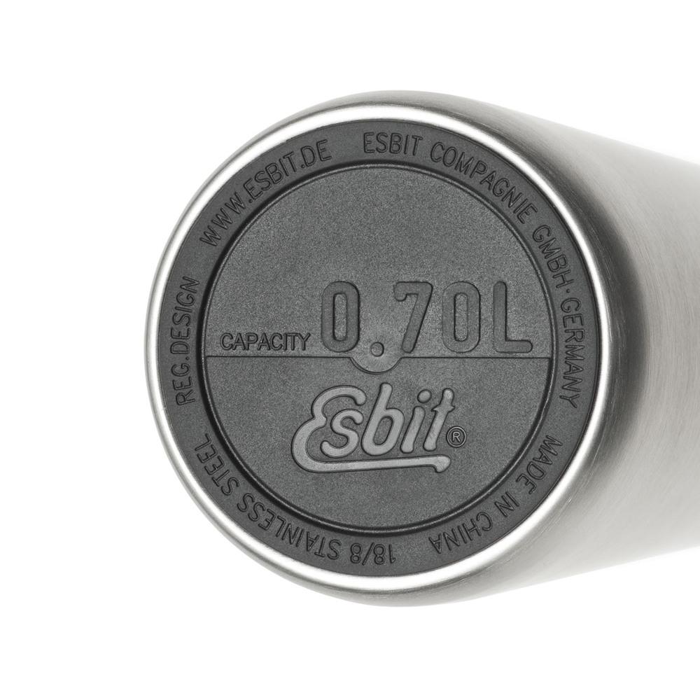Esbit│鋼硬系列 廣口不鏽鋼真空瓶 700ml 黑色