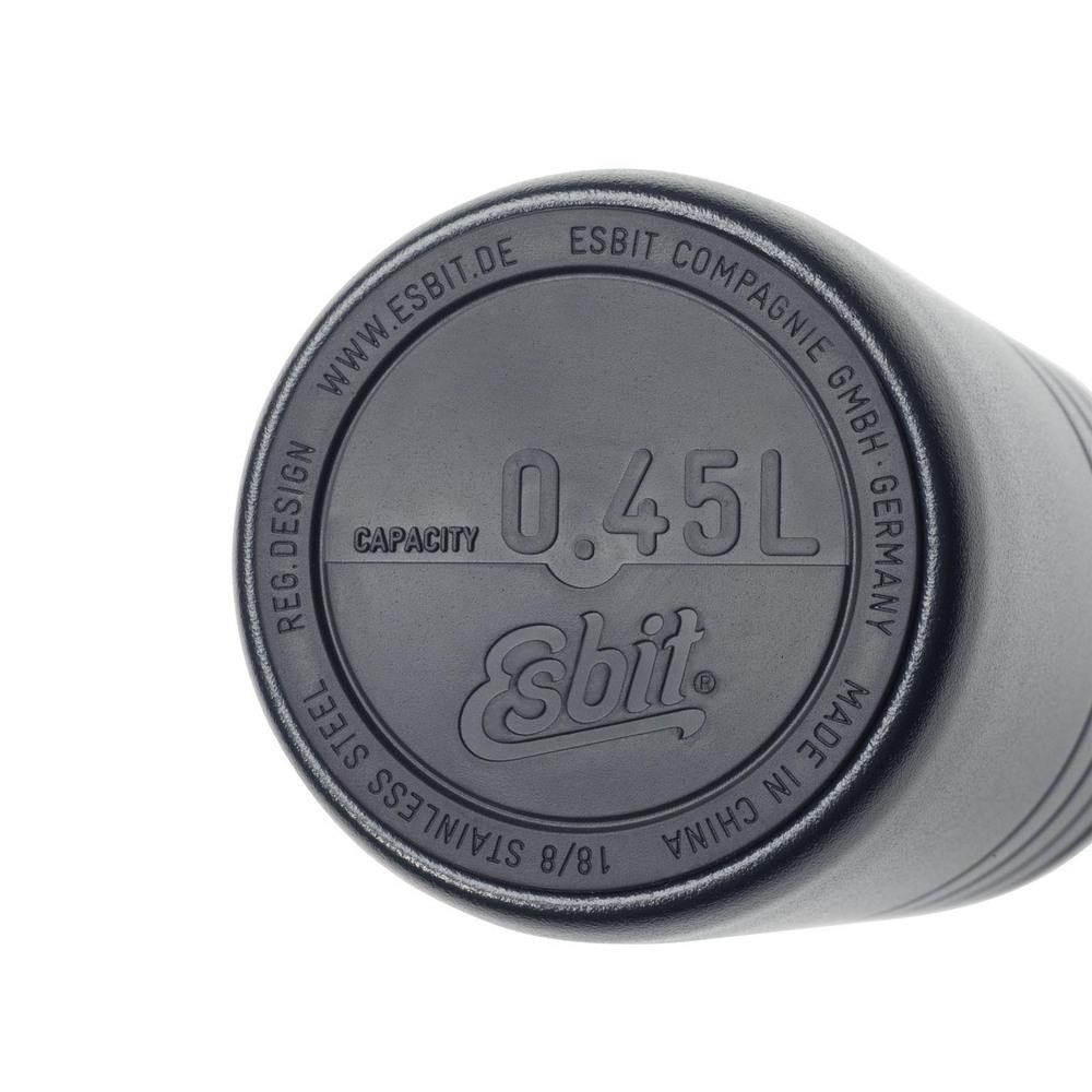 Esbit│鋼硬系列 真空掀蓋杯 450ml 黑