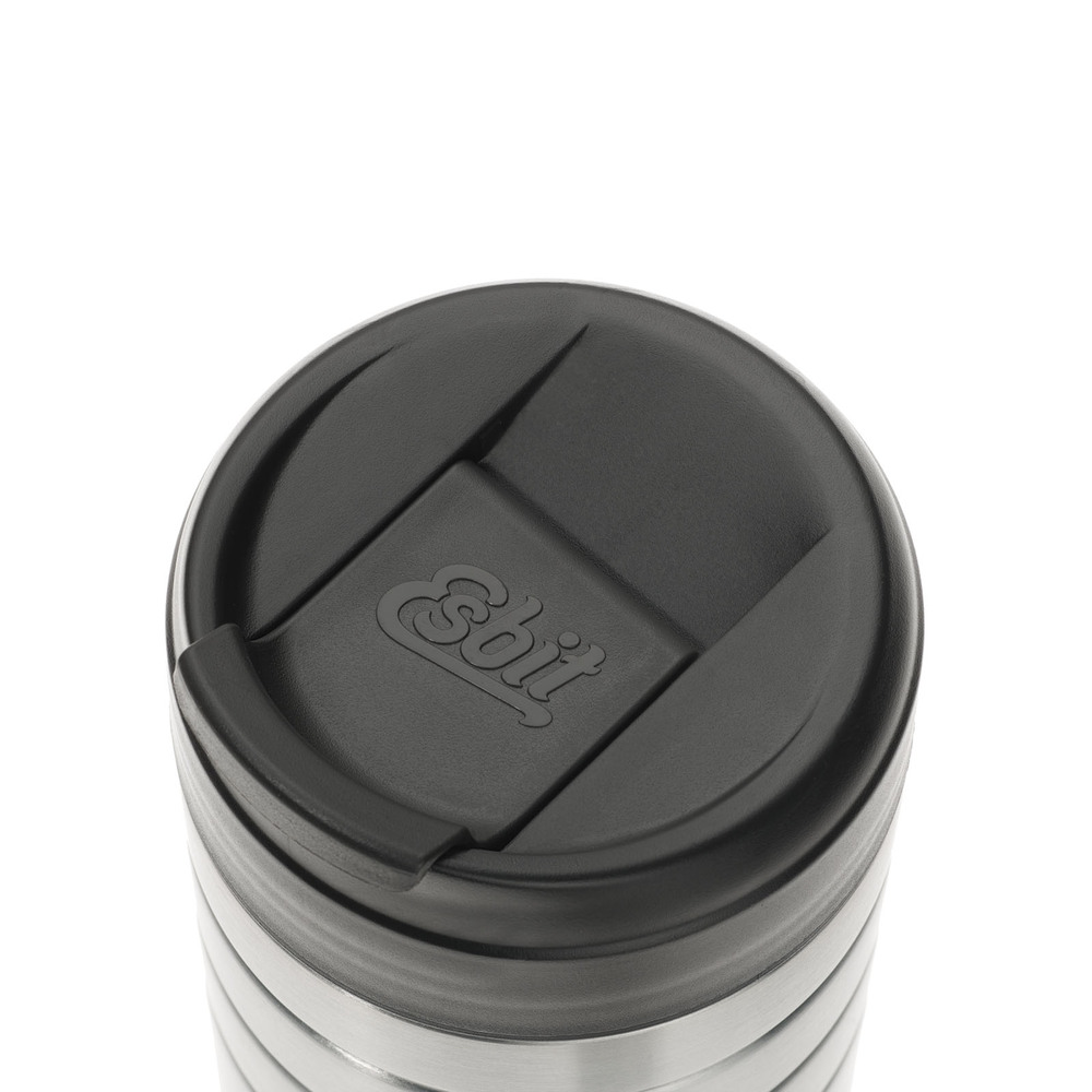 Esbit│鋼硬系列 真空掀蓋杯 450ml 銀色