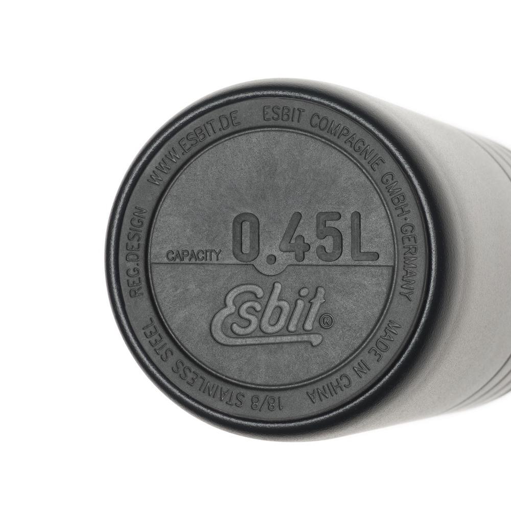 Esbit│鋼硬系列 廣口真空瓶 450ml 黑色