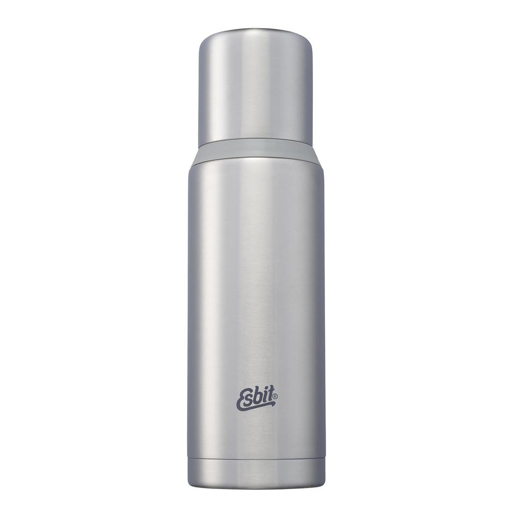 Esbit│不鏽鋼真空瓶 1000ml  消光銀