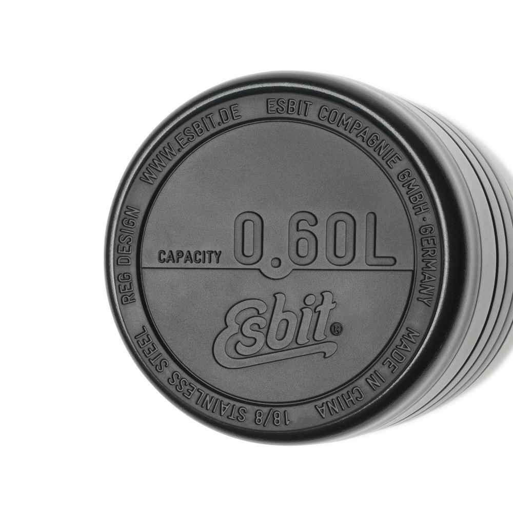 Esbit│鋼硬系列 真空食物保鮮罐 600ml 黑色