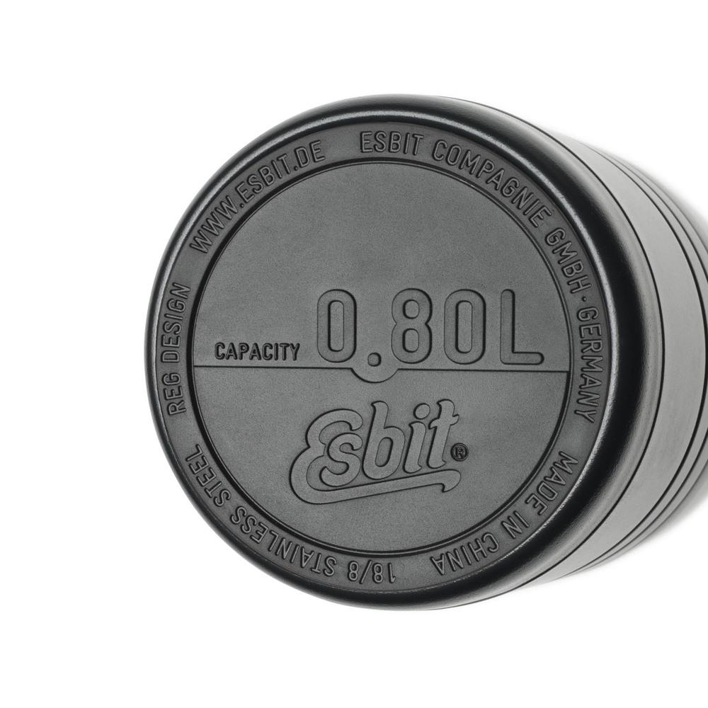 Esbit│鋼硬系列 真空食物保鮮罐 800ml 黑色