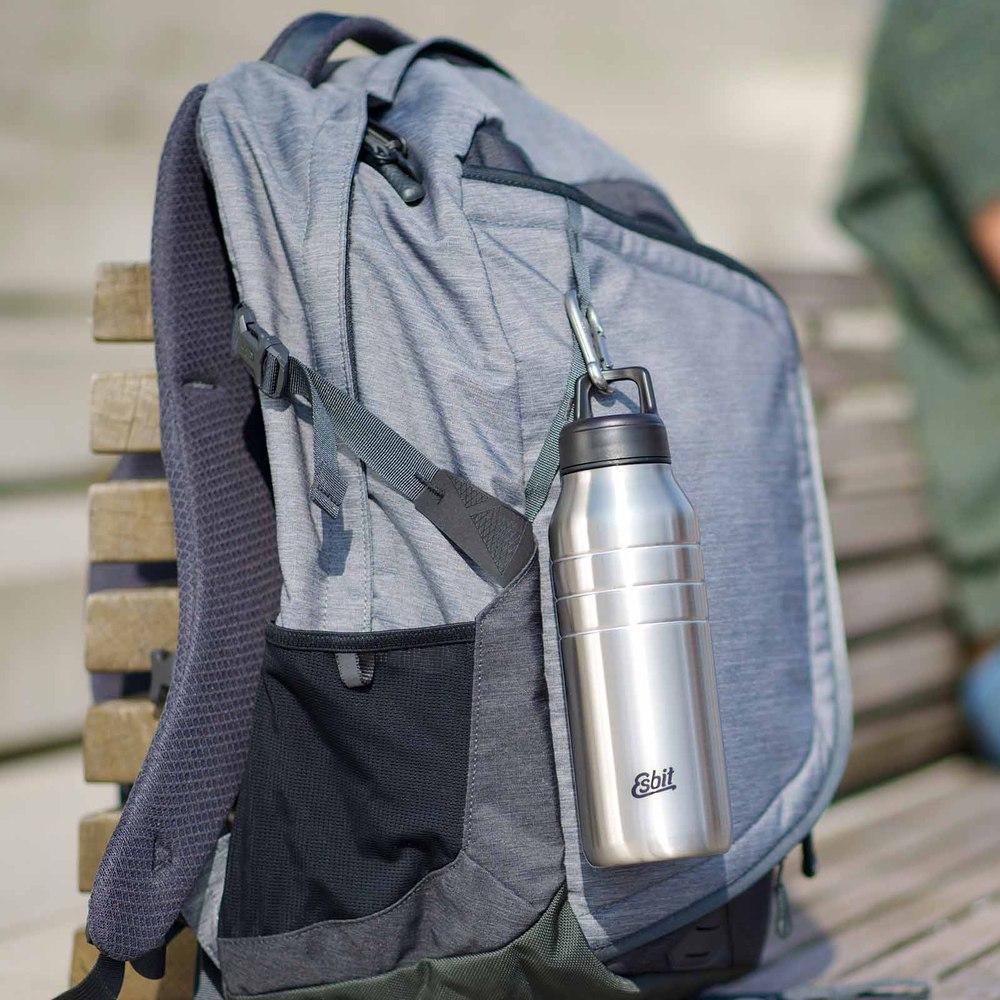 Esbit│鋼硬系列不鏽鋼水瓶 銀色 1000ml